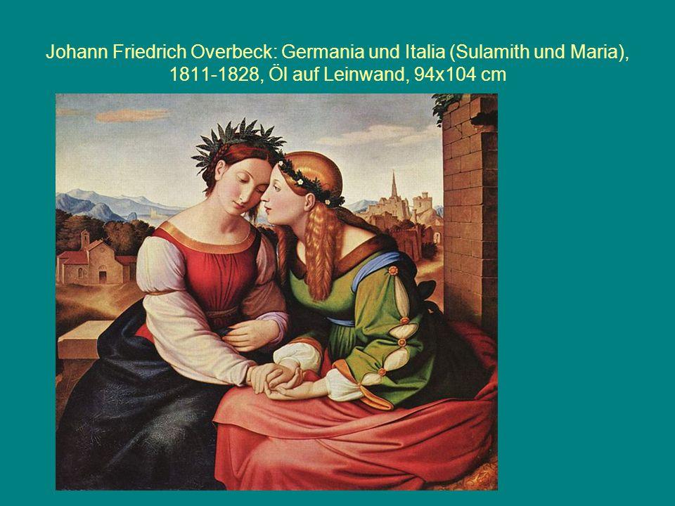 Johann Friedrich Overbeck: Germania und Italia (Sulamith und Maria), 1811-1828, Öl auf Leinwand, 94x104 cm