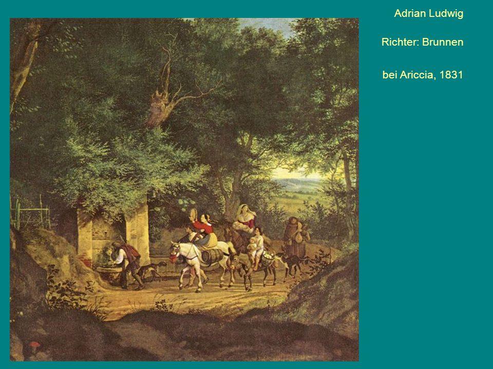 Adrian Ludwig Richter: Brunnen bei Ariccia, 1831