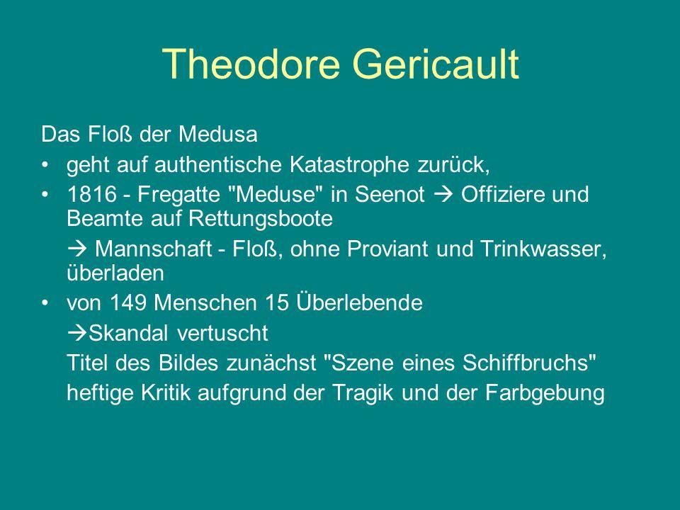 Theodore Gericault Das Floß der Medusa geht auf authentische Katastrophe zurück, 1816 - Fregatte