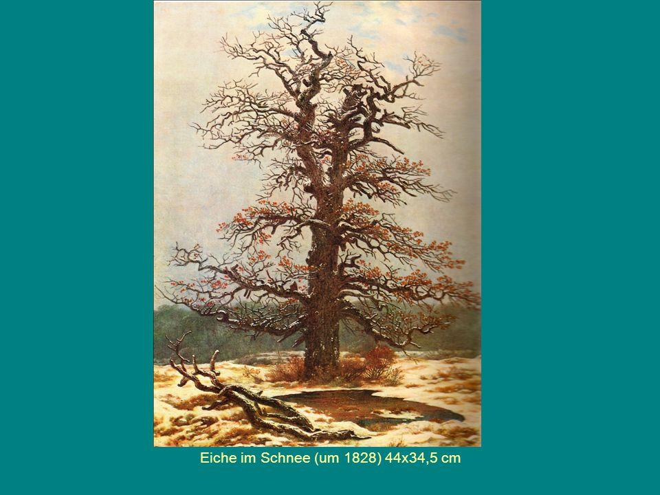 Eiche im Schnee (um 1828) 44x34,5 cm