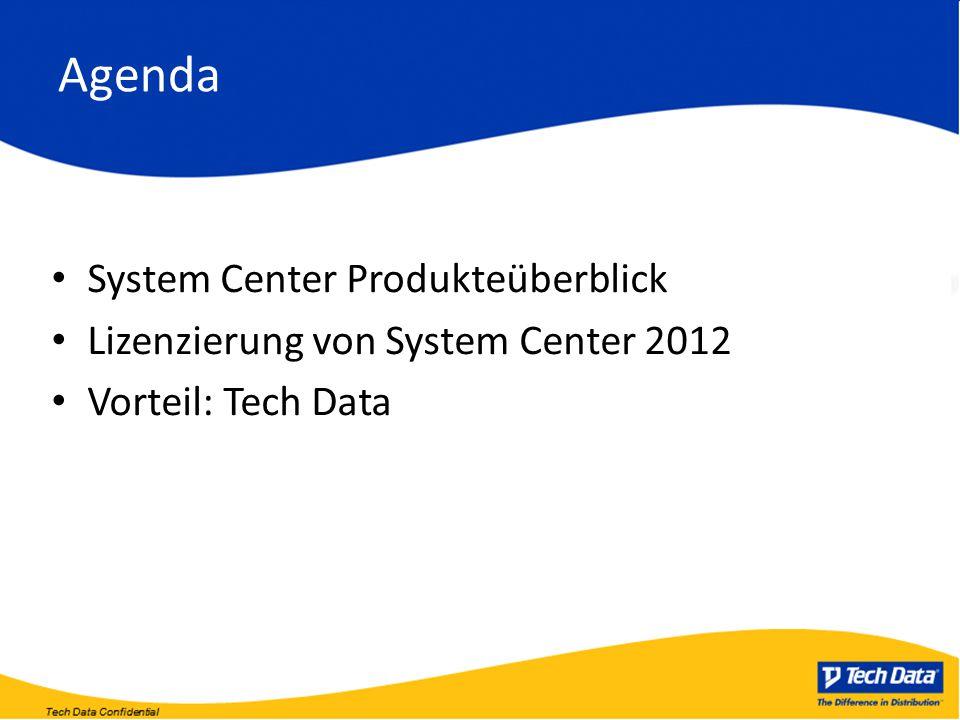 Agenda System Center Produkteüberblick Lizenzierung von System Center 2012 Vorteil: Tech Data