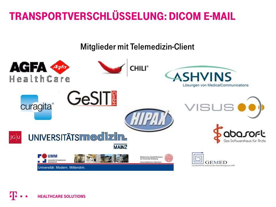 Mitglieder mit Telemedizin-Client