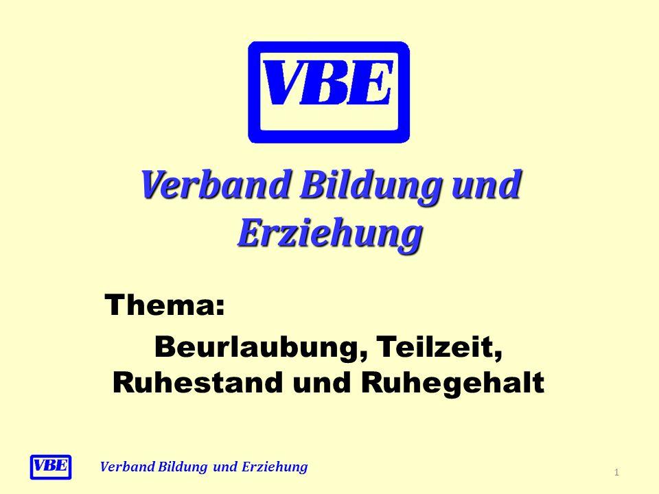 Teilzeitbeschäftigung Verband Bildung und Erziehung IV.