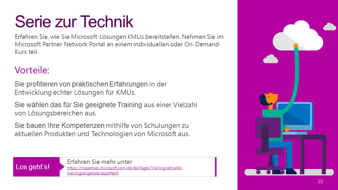 Serie zur Technik Erfahren Sie, wie Sie Microsoft-Lösungen KMUs bereitstellen.
