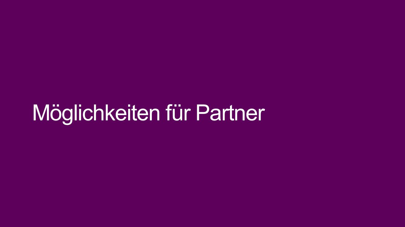Möglichkeiten für Partner