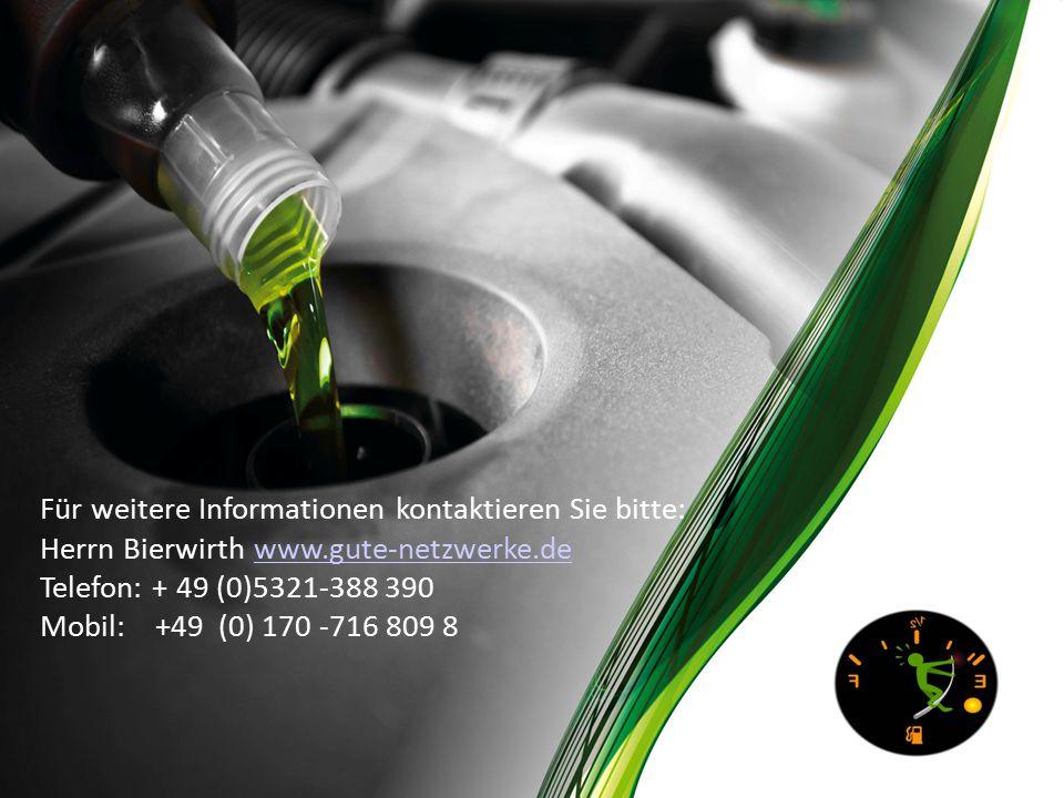 Für weitere Informationen kontaktieren Sie bitte: Herrn Bierwirth www.gute-netzwerke.dewww.gute-netzwerke.de Telefon: + 49 (0)5321-388 390 Mobil: +49 (0) 170 -716 809 8