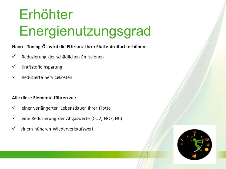 Nano Tuning-ÖL ist von renommierten Zertifizierungsstellen (gemäß DIN und anderen internationalen Normen) und von u.a.