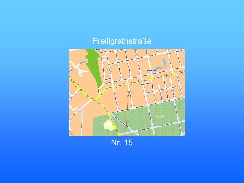 Nr. 15 Freiligrathstraße