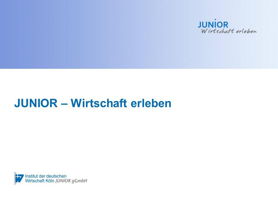 Auf Bundesebene wird JUNIOR unterstützt durch: JUNIOR Informationsveranstaltung2