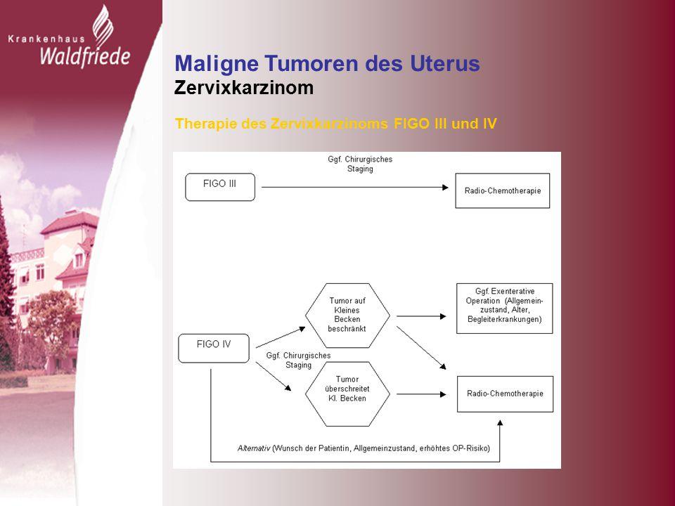 Maligne Tumoren des Uterus Zervixkarzinom Therapie des Zervixkarzinoms FIGO III und IV