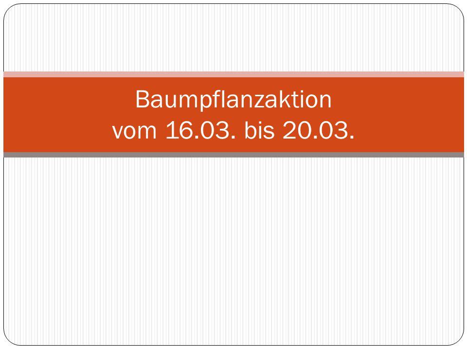 Baumpflanzaktion vom 16.03. bis 20.03.