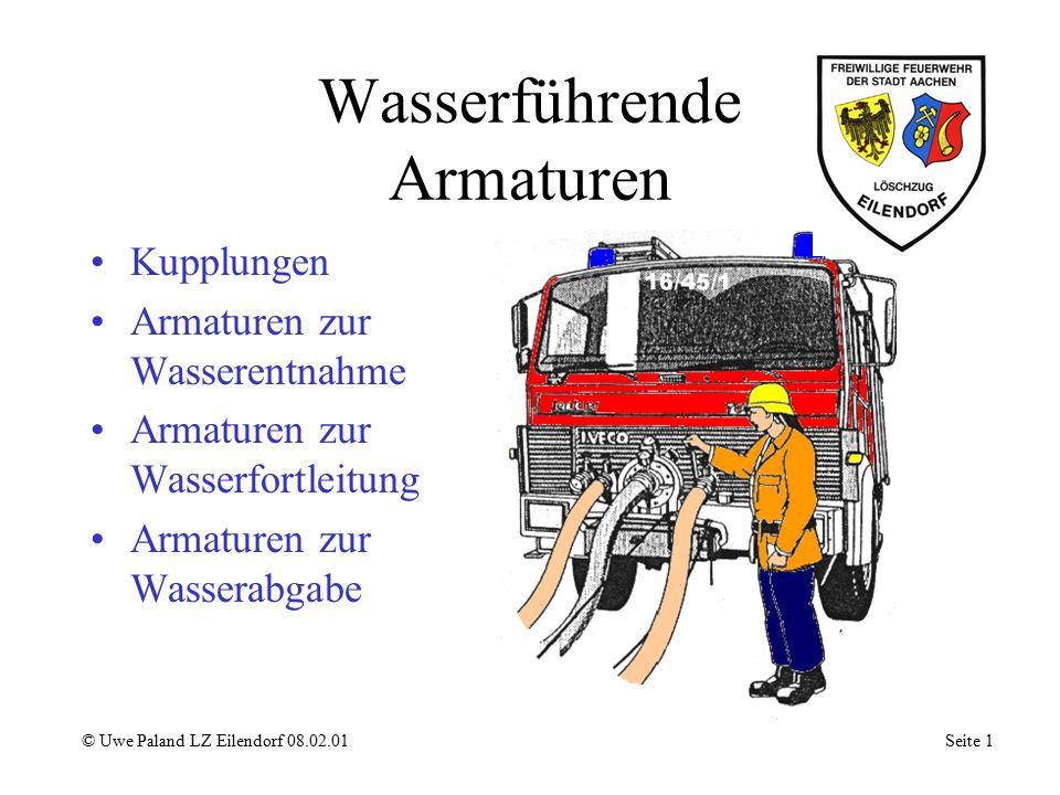 Sammelstück © Uwe Paland LZ Eilendorf 08.02.01 Seite 11 B - Festkupplung Ventilklappe Gehäuse A - Kupplung