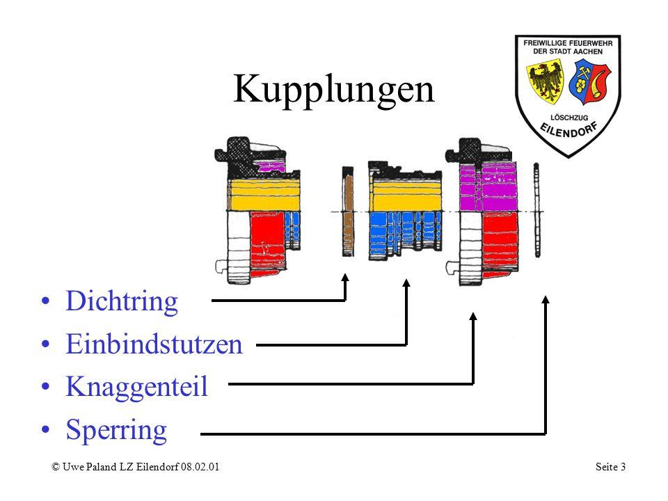 Druckbegrenzungs- ventil ( in Ruhestellung) © Uwe Paland LZ Eilendorf 08.02.01 Seite 13 Einstellvorrichtung Steuerventil Verschlußstück Ausgleichsleitung Förderwasser