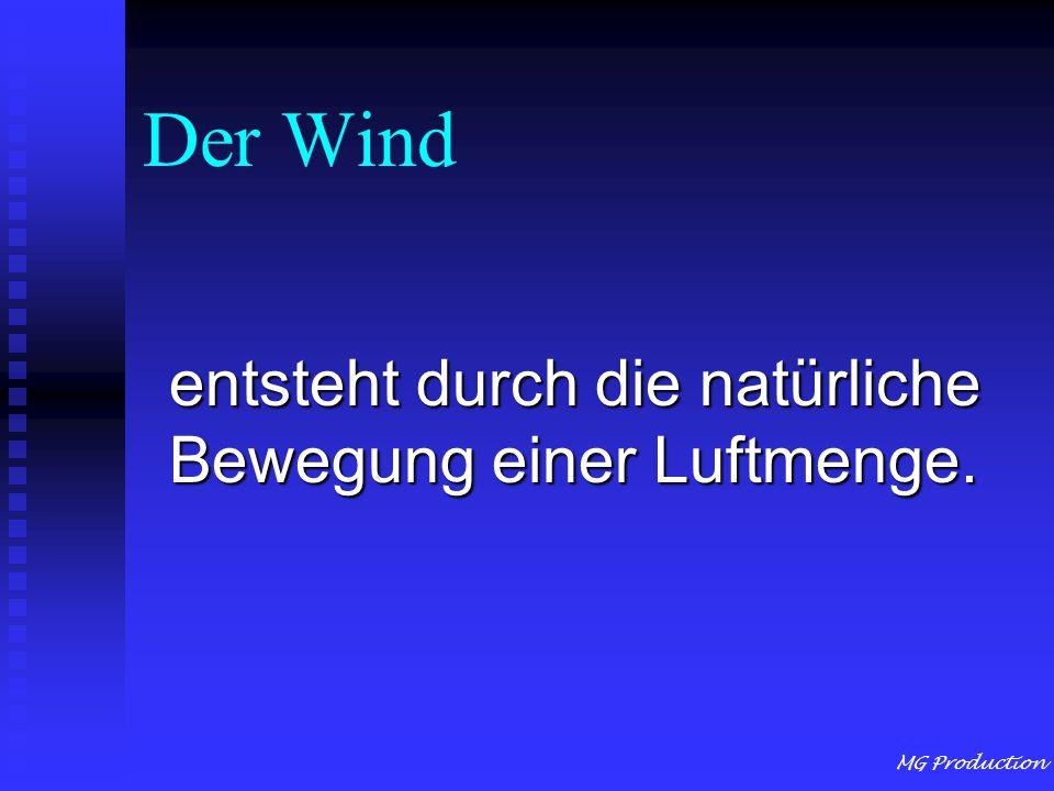 MG Production Der Wind entsteht durch die natürliche Bewegung einer Luftmenge.