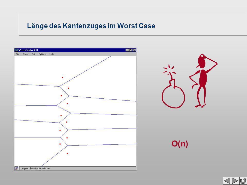 Kosten wie lange dauert die Konstruktion des trennenden Kantenzuges? Zahl der Teilkanten / Knoten des Kantenzuges Zahl Berechnungen von Schnittpunkten