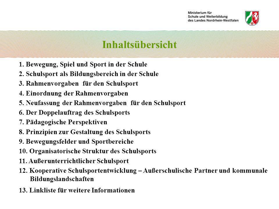 Bewegungsfelder und Sportbereiche 1.