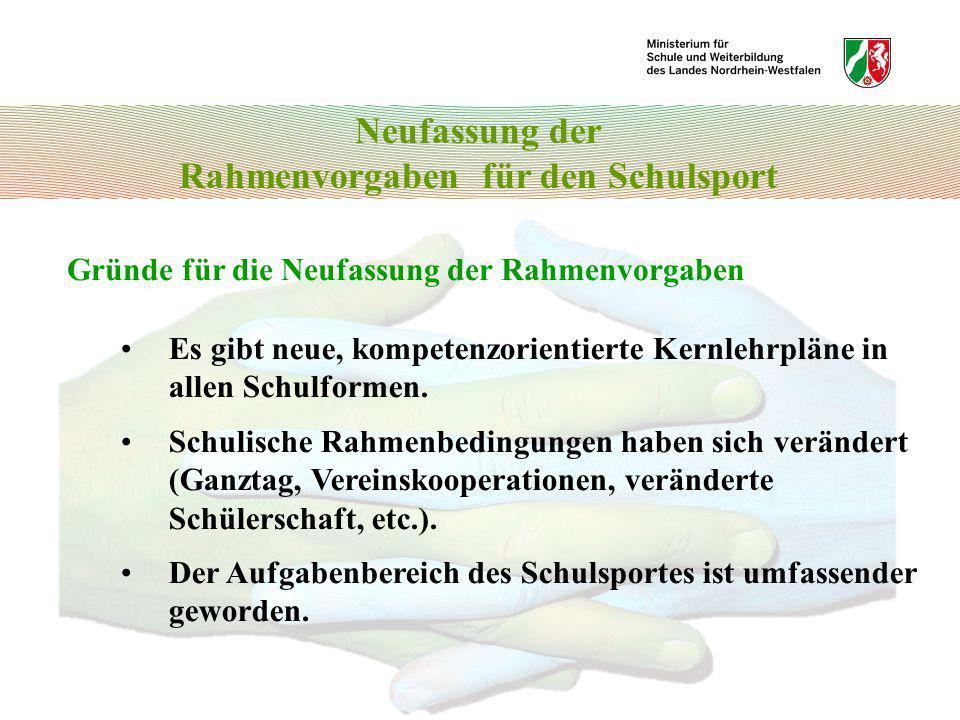 Bewegungsfelder und Sportbereiche 6.