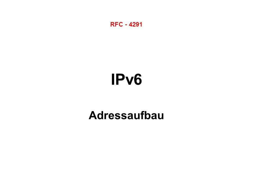 IPv6 Adressaufbau RFC - 4291