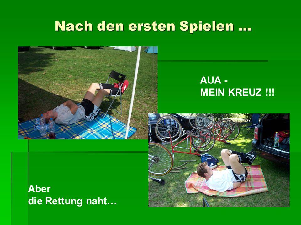 Schwester Katrin bitte zu Dr. Müller Der erste Dopingfall beim Rasenradball…? …alles sauber!