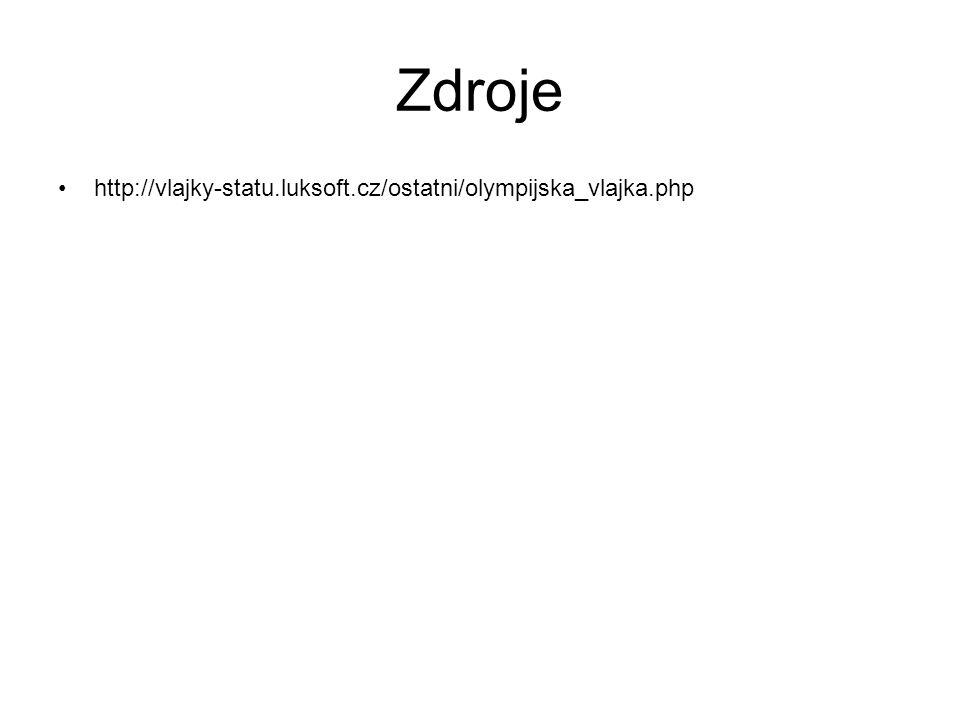 Zdroje http://vlajky-statu.luksoft.cz/ostatni/olympijska_vlajka.php