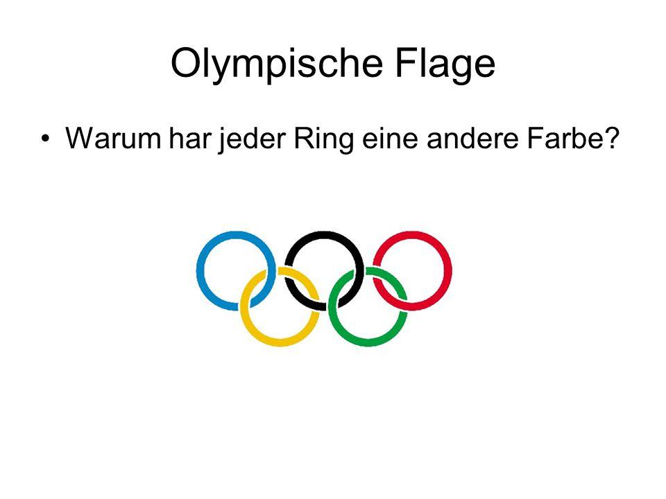 Olympische Flage Warum har jeder Ring eine andere Farbe
