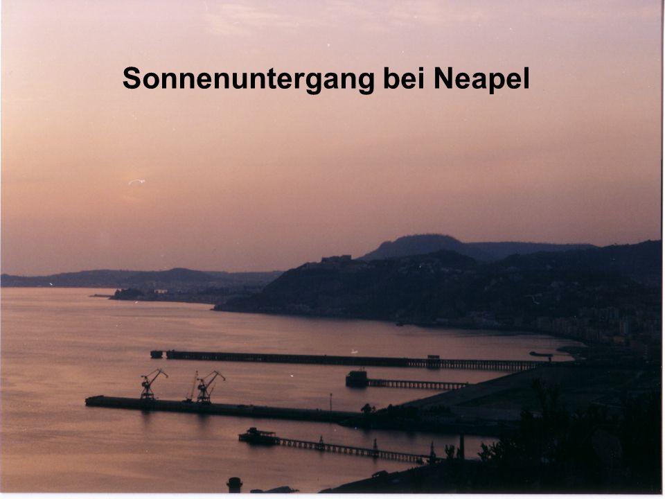 Sonnenuntergang bei Neapel