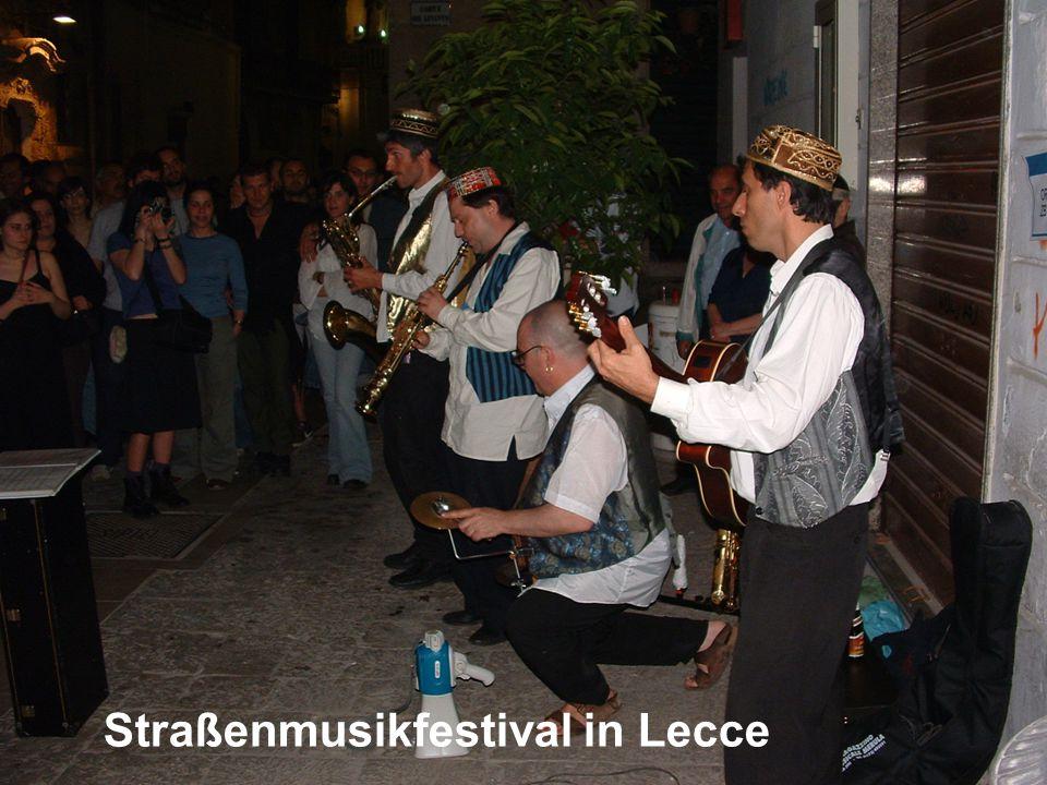 Straßenmusikfestival in Lecce