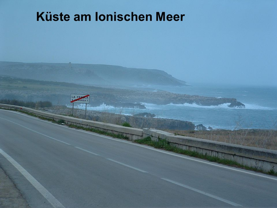 Küste am Ionischen Meer
