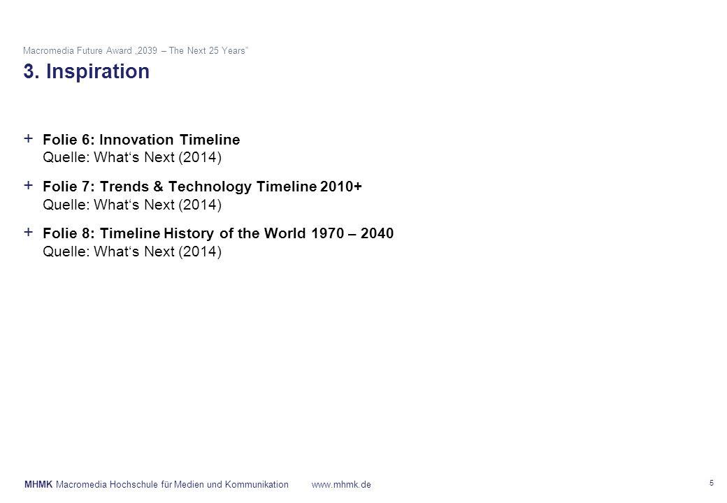 "MHMK Macromedia Hochschule für Medien und Kommunikationwww.mhmk.de Macromedia Future Award ""2039 – The Next 25 Years 3."