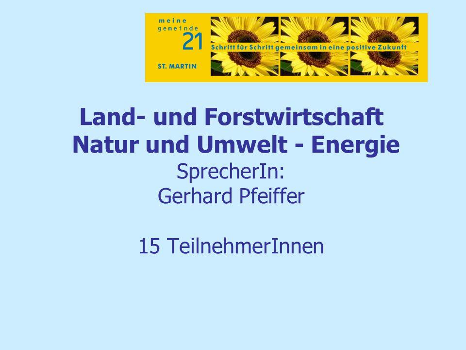 Land- Forstwirtschaft – Natur/Umwelt – Energie