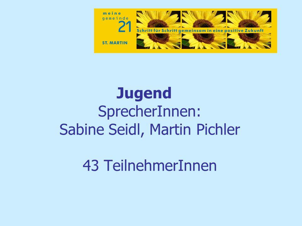 Jugend SprecherInnen: Sabine Seidl, Martin Pichler 43 TeilnehmerInnen