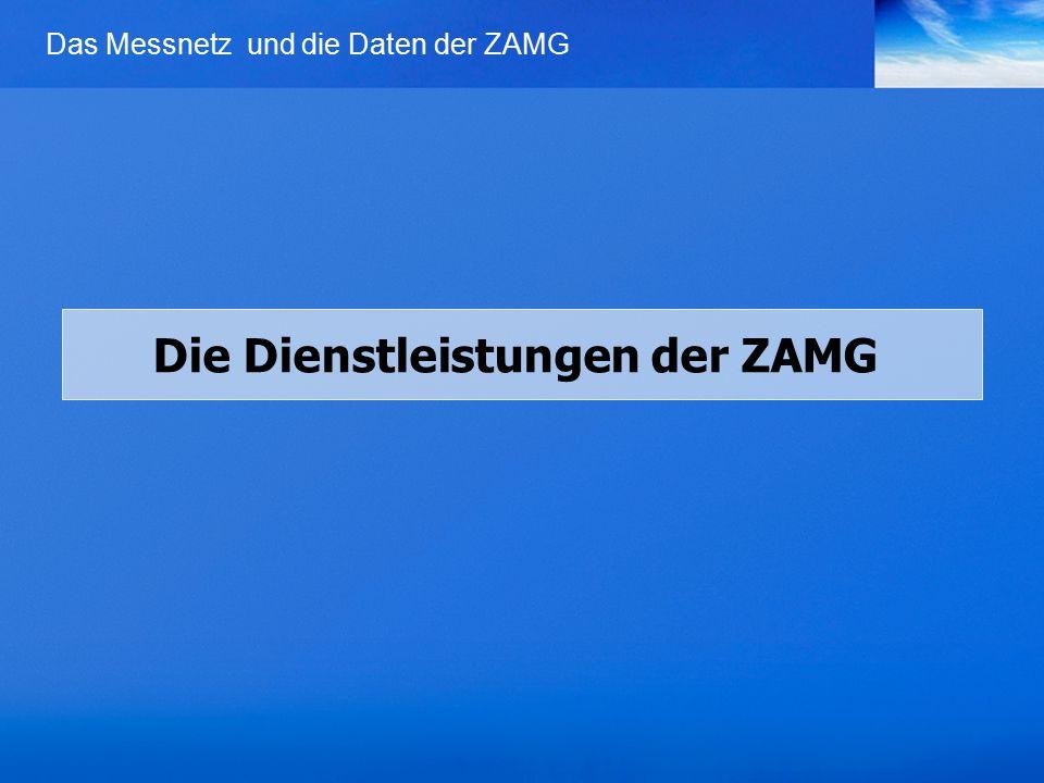 Die Dienstleistungen der ZAMG