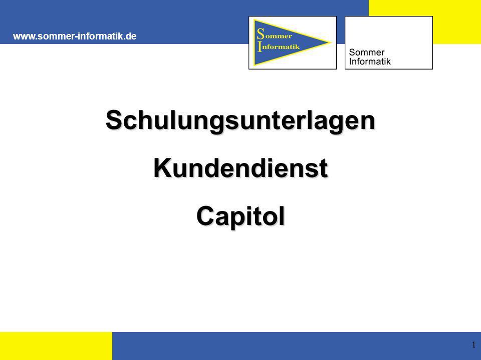 www.sommer-informatik.de 1 SchulungsunterlagenKundendienstCapitol