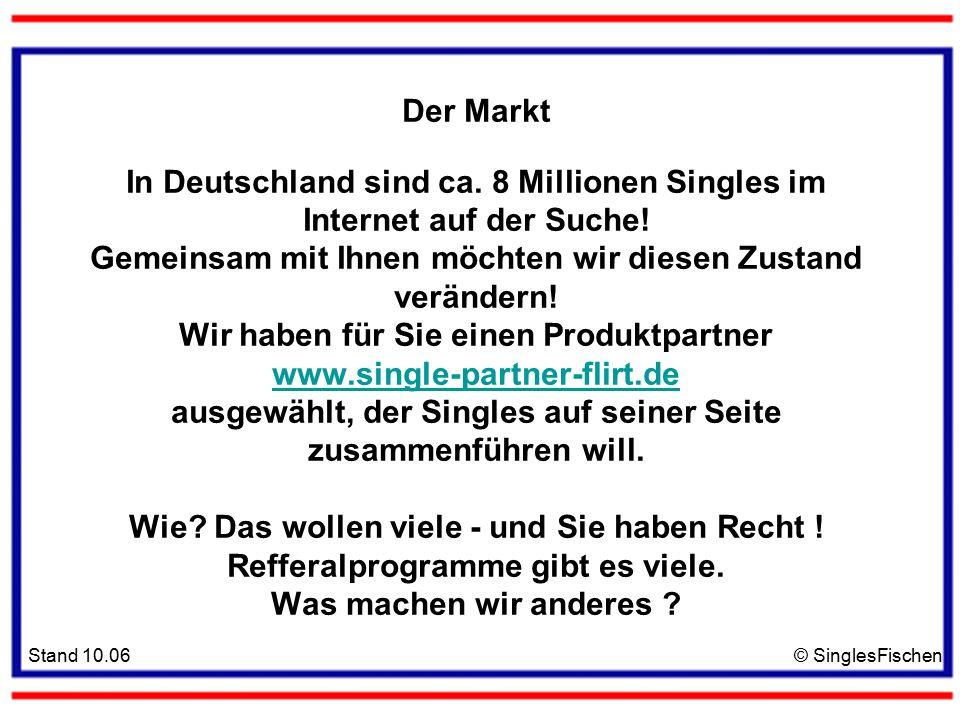 Stand 10.06© SinglesFischen Der Markt In Deutschland sind ca.
