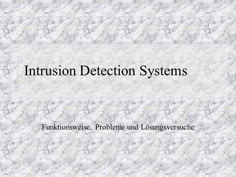 Intrusion Detection Systems Funktionsweise, Probleme und Lösungsversuche