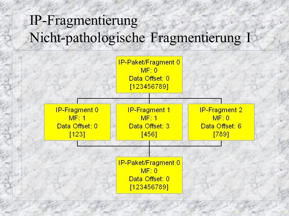 IP-Fragmentierung Nicht-pathologische Fragmentierung I