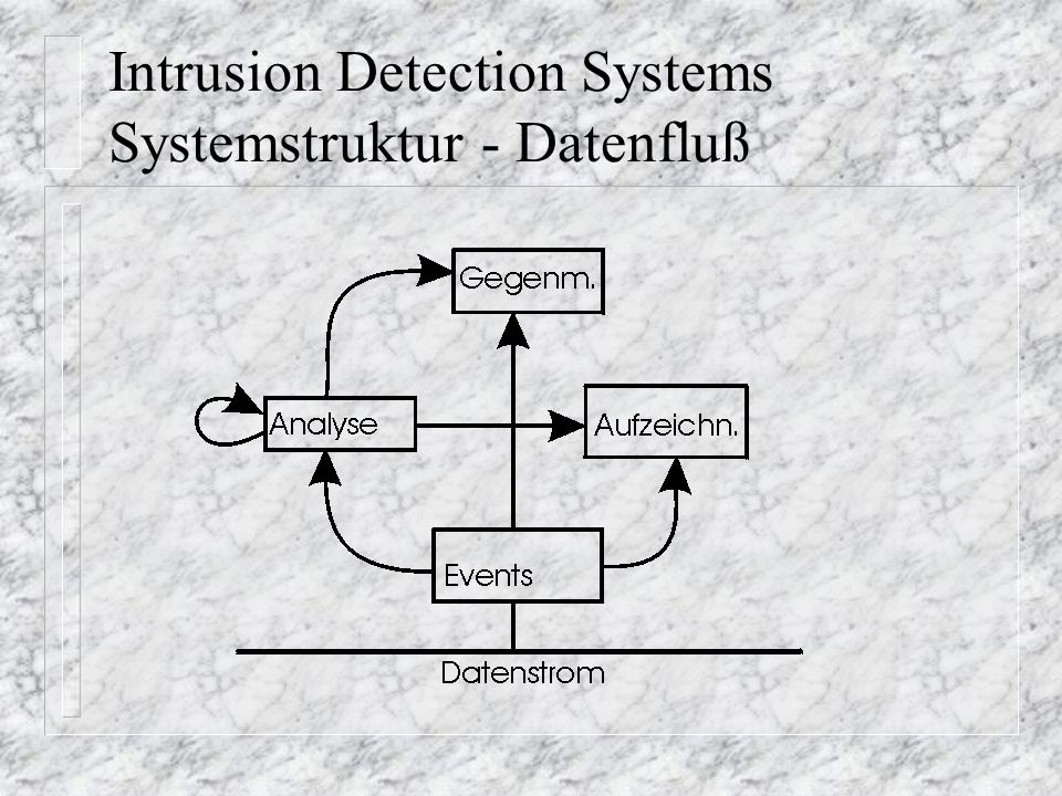 Intrusion Detection Systems Systemstruktur - Datenfluß
