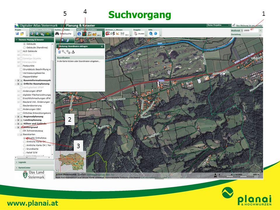 www.planai.at Suchvorgang 1 2 3 4 5
