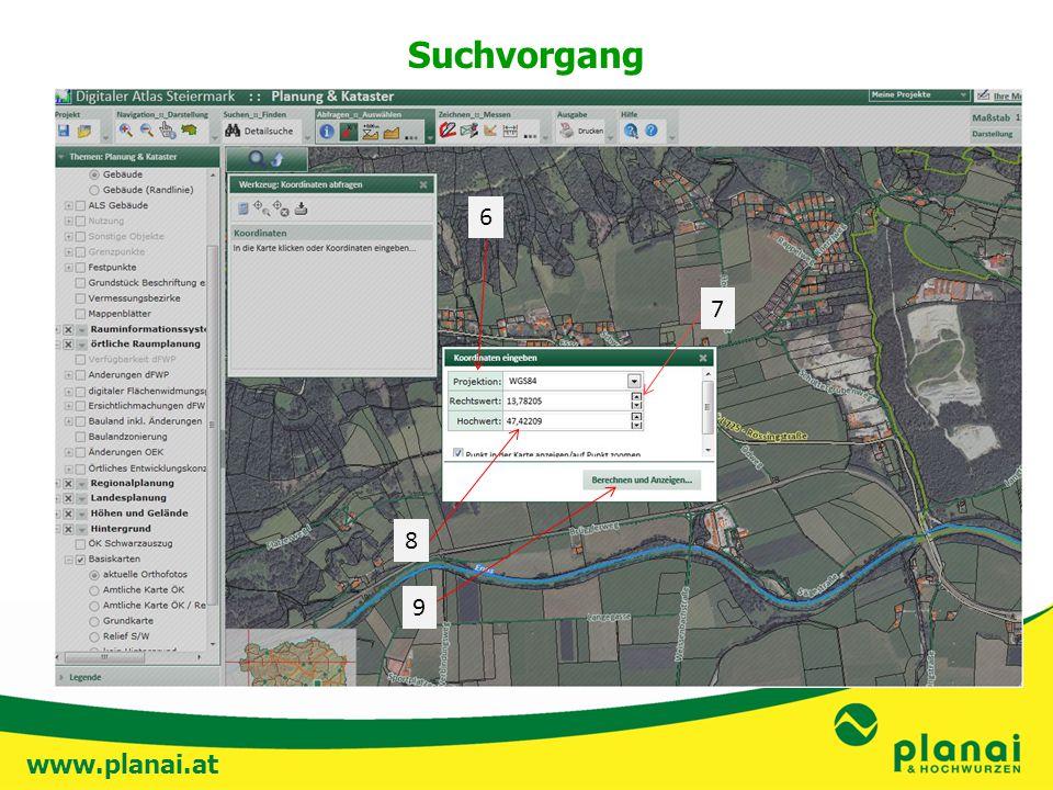 www.planai.at Suchvorgang 8 9 6 7