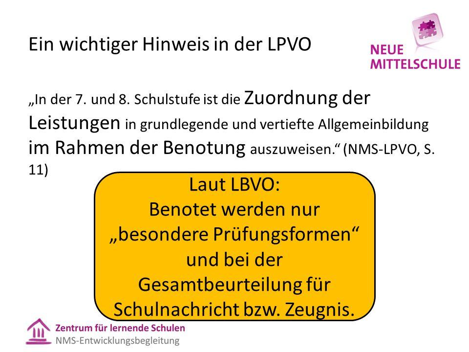 """Ein wichtiger Hinweis in der LPVO """"In der 7.und 8."""