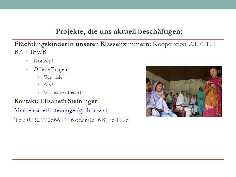 Flüchtlingskinder in unseren Klassenzimmern: Kooperation Z.I.M.T.