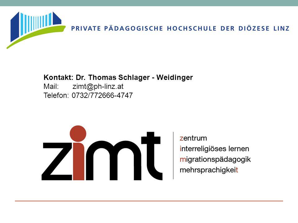 Kontakt: Dr. Thomas Schlager - Weidinger Mail: zimt@ph-linz.at Telefon: 0732/772666-4747