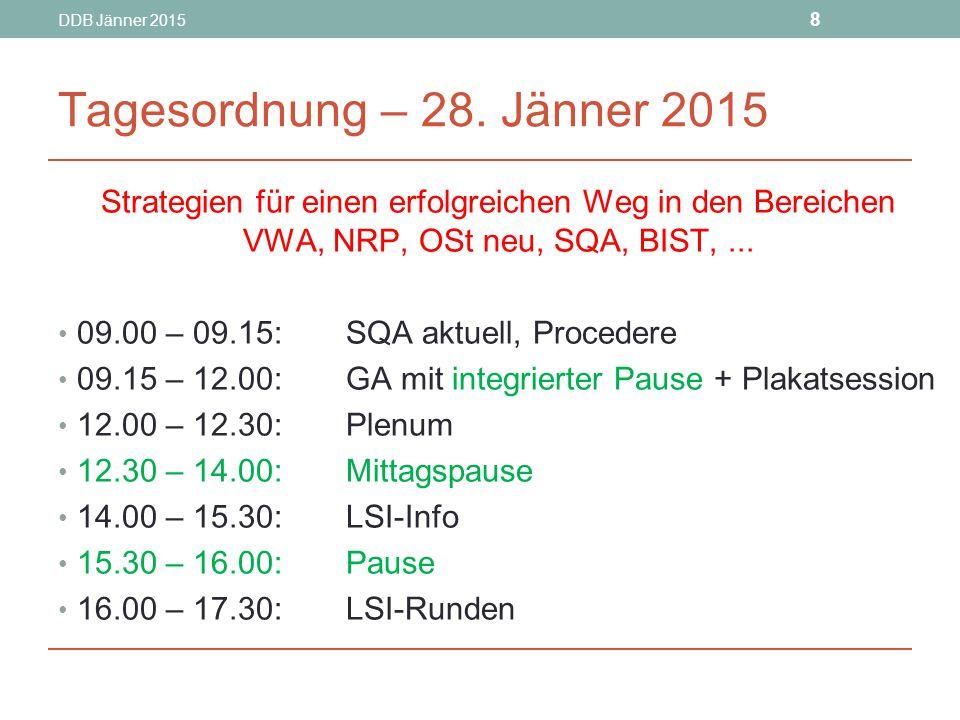 DDB Jänner 2015 8 Tagesordnung – 28.