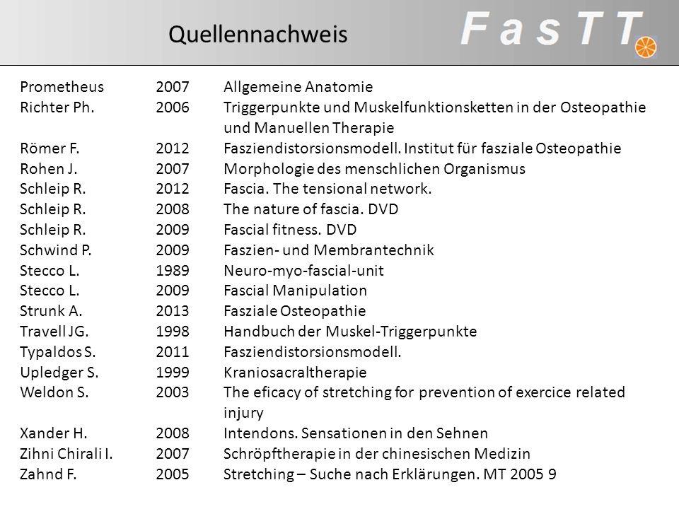 Quellennachweis Prometheus2007Allgemeine Anatomie Richter Ph.2006Triggerpunkte und Muskelfunktionsketten in der Osteopathie und Manuellen Therapie Röm