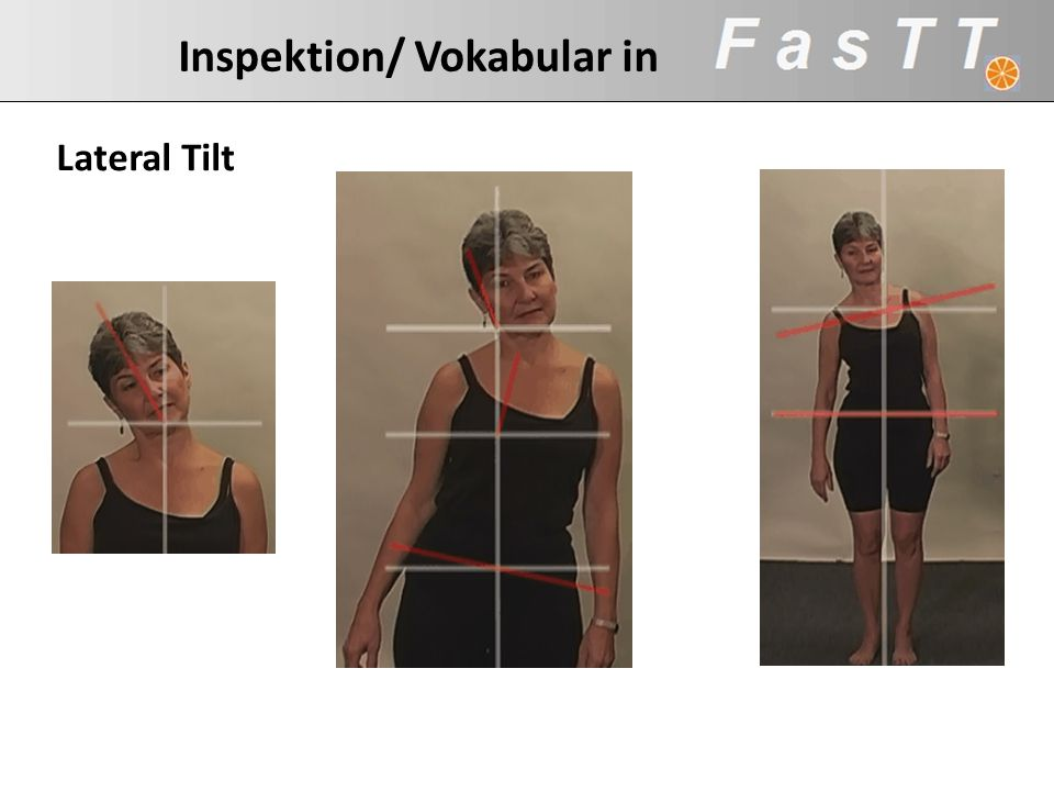 Inspektion/ Vokabular in Lateral Tilt