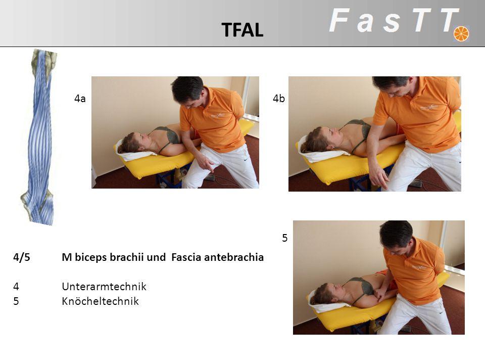 5 4a4b 4/5M biceps brachii und Fascia antebrachia 4Unterarmtechnik 5Knöcheltechnik TFAL
