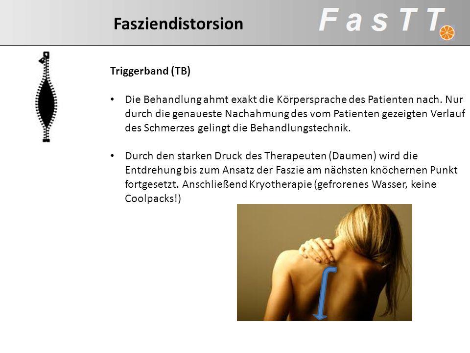 Triggerband (TB) Die Behandlung ahmt exakt die Körpersprache des Patienten nach. Nur durch die genaueste Nachahmung des vom Patienten gezeigten Verlau