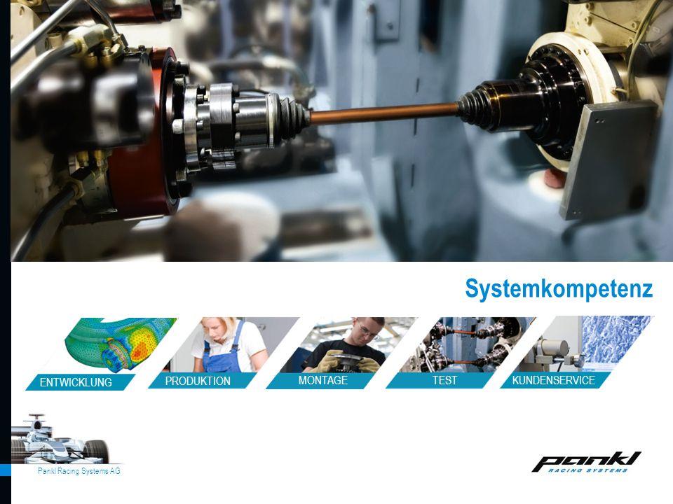 Pankl Racing Systems AG Systemkompetenz allgemein ENTWICKLUNG MONTAGE TEST PRODUKTION KUNDENSERVICE Systemkompetenz