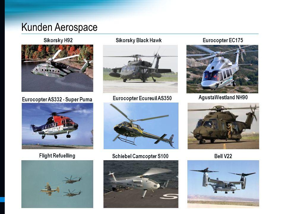 Pankl Racing Systems AG Kunden Aerospace Flight Refuelling Bell V22 AgustaWestland NH90 Sikorsky H92 MTU A400M Schiebel Camcopter S100 Eurocopter Ecur