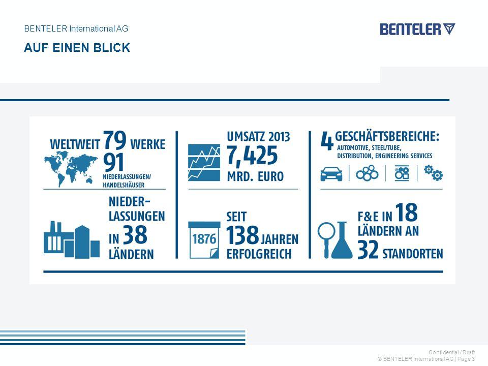 Confidential / Draft © BENTELER International AG   Page 3 BENTELER International AG AUF EINEN BLICK